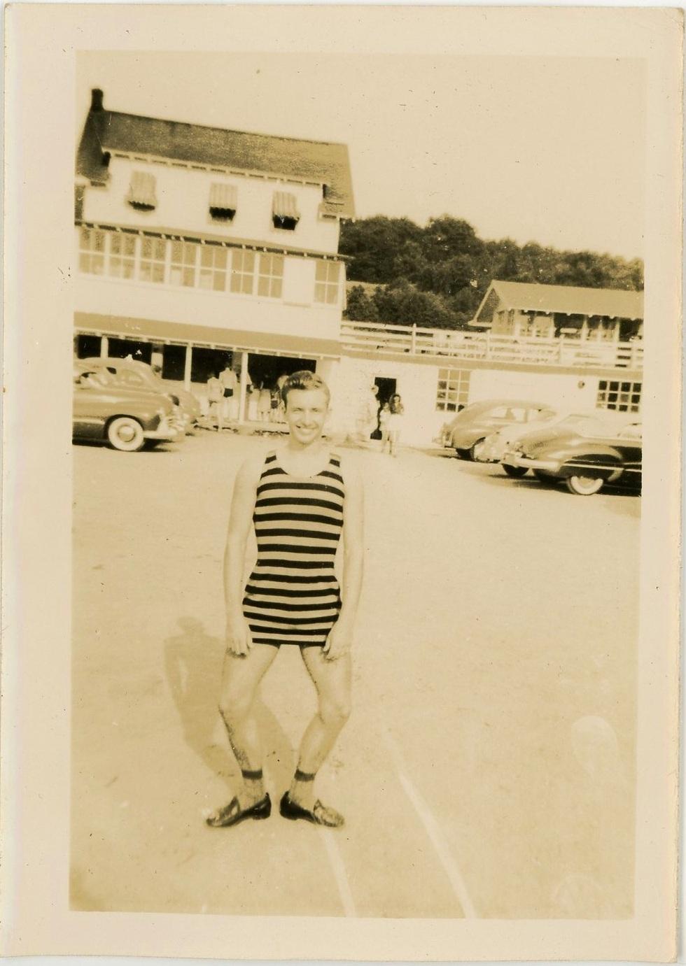 EOF Vintage Menswear- Summer Style - 1930s Stripe Bathing Suit