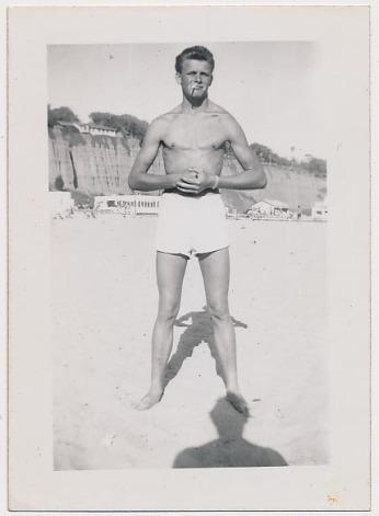 EOF Vintage Menswear- Summer Style - 1950s Bad Ass Rebel- White Bathing Suit- Shadow Vernacular