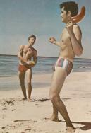 EOF Vintage Menswear- Summer Style - 1960S Colour - Striped Bathing Suit- Play Catch
