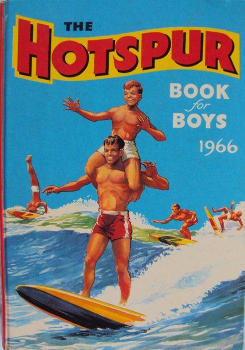 EOF Vintage Menswear- Summer Style - Hot Spur 1960s Book for Boys- Surfs Up Dudes-Cover Illustration