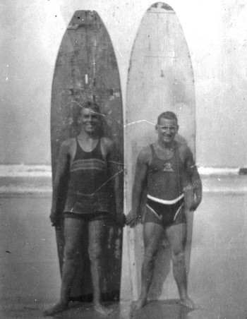 EOF Vintage Menswear- Summer Style - Rad 1930s Surf - Black and White Swimwear