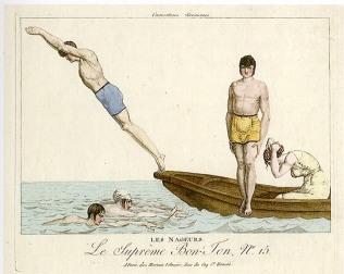 EOF Vintage Menswear- Summer Style - Victorian Bathers - Colour Illustration