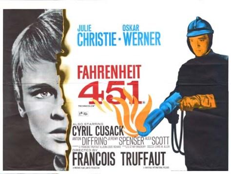 Farenehit 451 Vintage Film Poster - Julie Christie