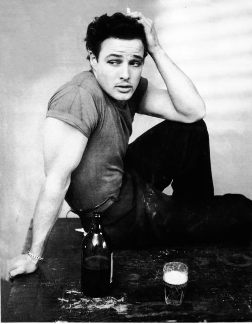 Marlon Brando - Vintage Style Idol - T-Shirt Pioneer - Bad Ass Bad Boy Rebel Stud