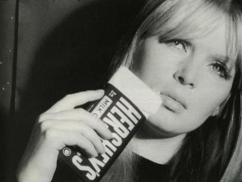 Nico with a Hersheys Bar