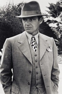 suited up- jake gittes- jack nicholson - chinatown (1974) - menswear- vintage