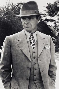 suited up- jake gittes- jack nicholson - chinatown (1974) - menswear- vintage