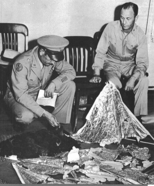 Vintage Photograph of Roswell Debris