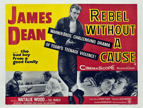 rebel without a cause- the bad boy from a good family- vintage poster