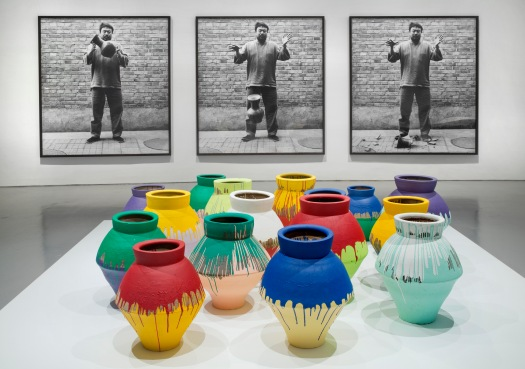 Ai-Weiwei-installation-Colored Vases