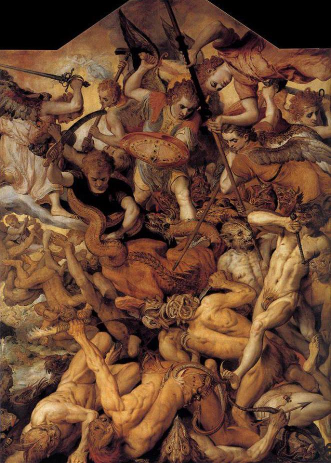 E.O.F. Snapshot of the Day- September 23, 2013 {The Fall of the Rebellious Angels- Frans Floris I 16th Century}