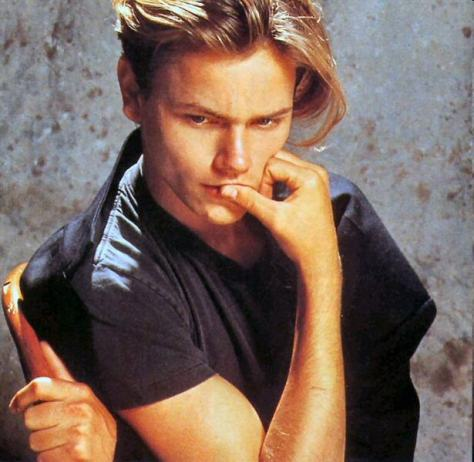 river phoenix contemplates- the eye of faith