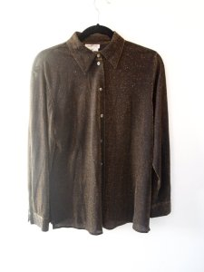 Black and Gold Sheer Metallic Glamour Shirt
