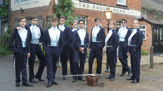 Cast of The Riot Club- Secret Society Style- The Eye of Faith