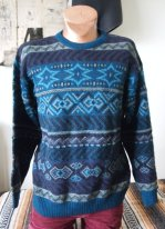 Mysterious Ivy Secret Society Graphic Sweater- The Eye of Faith Vintage