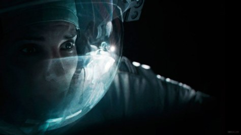 Sandra Bullock is Scared- Gravity film (2013)