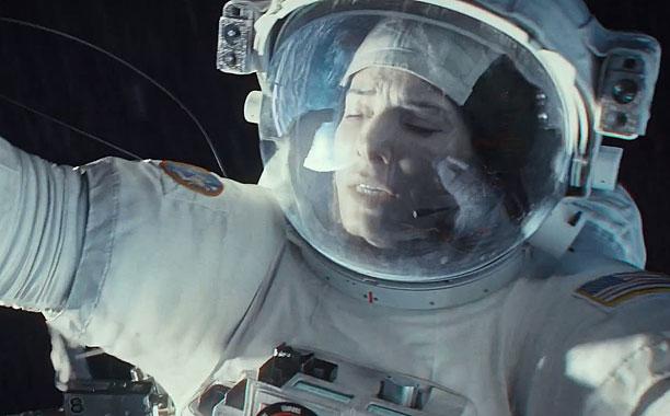 Gravity trailer -- Pictured: Sandra Bullock(Screengrab)