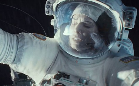 Gravity trailer -- Pictured: Sandra Bullock(Screengrab)