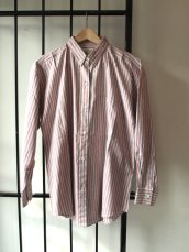 White and Red Stripe Ivy Cotton Oxford Shirt- The Eye of Faith