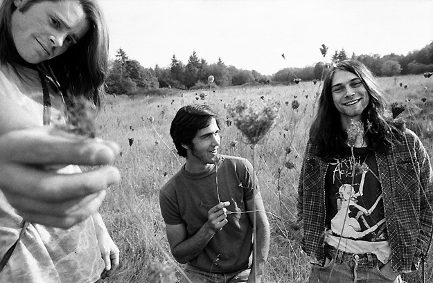 Young and Beautiful- Chad Channing krist novoselic and kurt cobain- nirvana- the eye of faith {vintage}