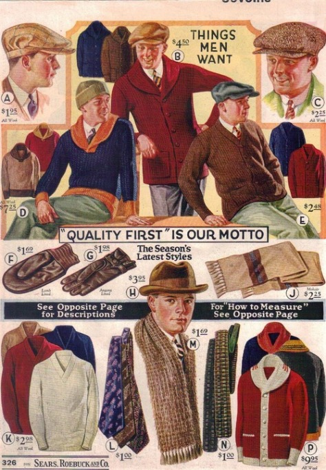 1930s catalogue- what men want to buy- the eye of faith vintage