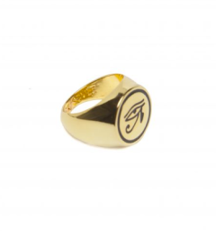 Black Scale- Eye of Ra Gold Ring