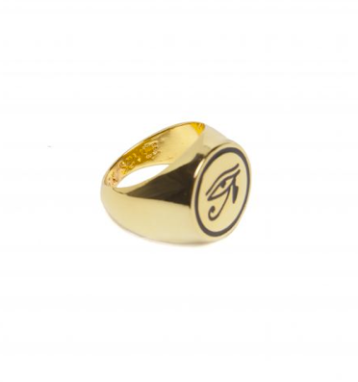 Black Scale- Eye of Ra Gold Ring