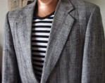 Dapper Vintage Classic Black, Grey, Multi-Colour Woven Tweed Tailored Sports Coat Mens Blazer - MEDIUM - $80