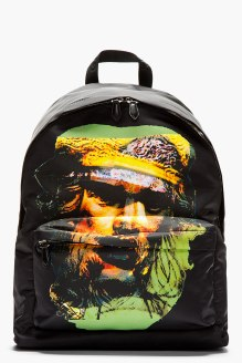 GIVENCHY- Black & Yellow Printed Minotaur Backpack