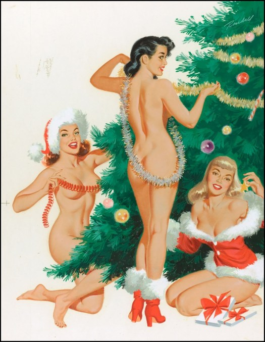 Naught Xmas Decorations - vintage pinup- the eye of faith- DECEMBER 20 2013