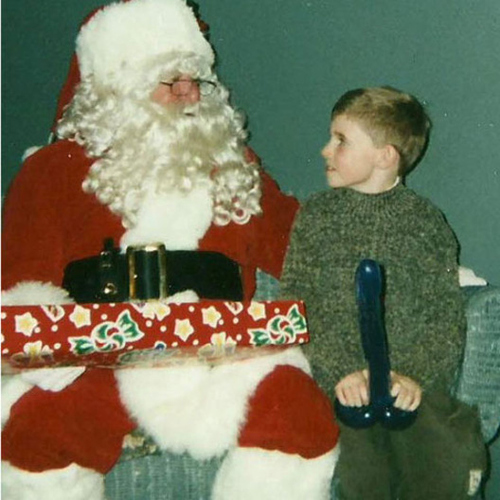 Not Even Going There- Creepy Vintage Santa Photo