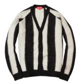supreme striped mohair cardigan
