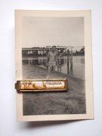 "Vintage 1960s Men's Glazed Mid-Century ""FLORIDA"" Tie Clip with Palm Trees and Flamingo PLUS Stamped Original Vintage Snapshot - $15"