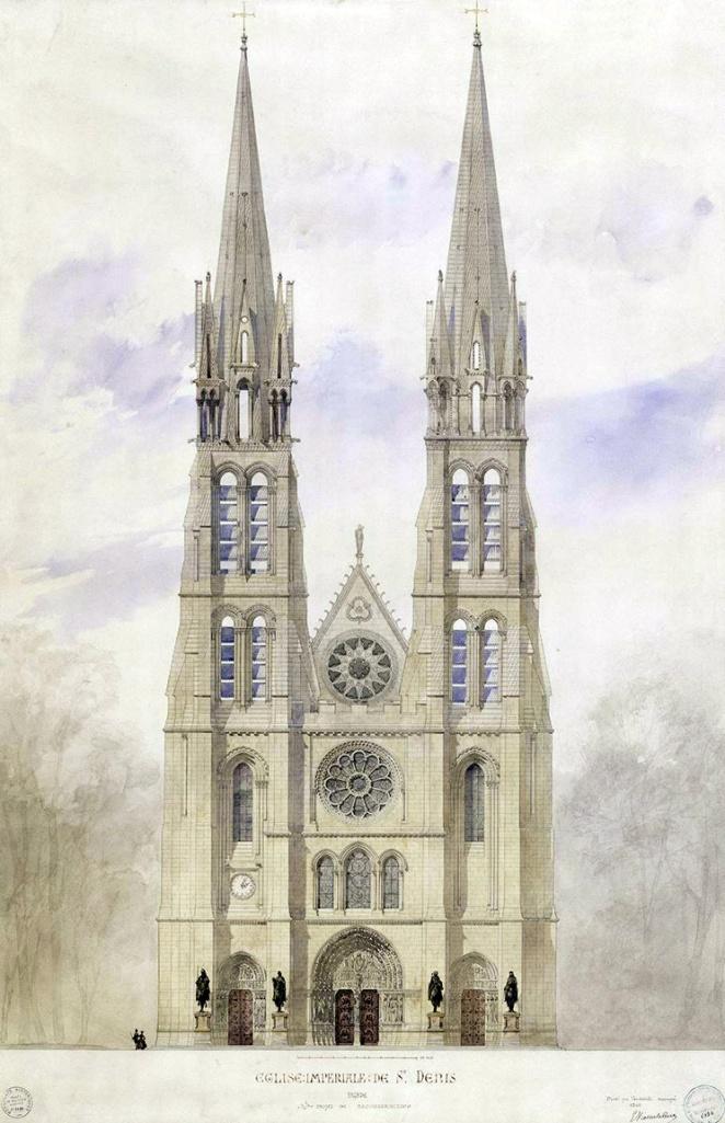 Saint-Denis_(basilique)_Viollet-le-Duc_(projet)