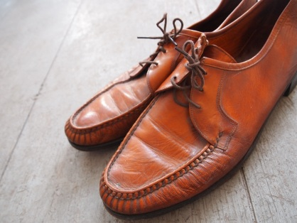 Vintage Tobacco Brown Florsheim Moccasin Toe Loafer- The Eye of Faith Vintage