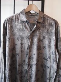 Anicent Aliens Silver Metallic Dress Shirt- The Eye of Faith VIntage