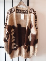 VINTAGE HANDMADE ANGORA COWICHAN CARDIGAN - THE EYE OF FAITH VINTAGE