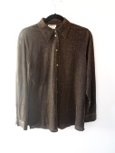 Black and Gold Metallic Sheer Shirt- The Eye of Faith Vintage