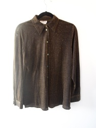 Black and Gold Metallic Sheer Shirt- The Eye of Faith Vintage