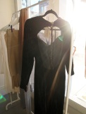 1930s Black Velvet Evening Dress- The Eye of Faith Vintage