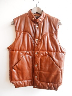 Wolfman Vintage Tobacco Puffy Vest- The Eye of Faith Vintage