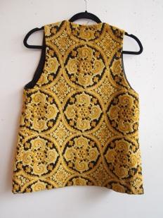 Vintage Gold Tapestry Vest- The Eye of Faith Vintage