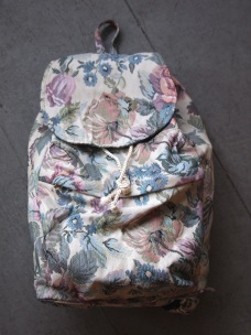 Floral Upholstery Backpack - The Eye of Faith Vintage