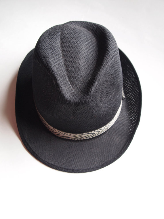The Eye of Faith- Dapper Black Rockabilly Fedora Hat