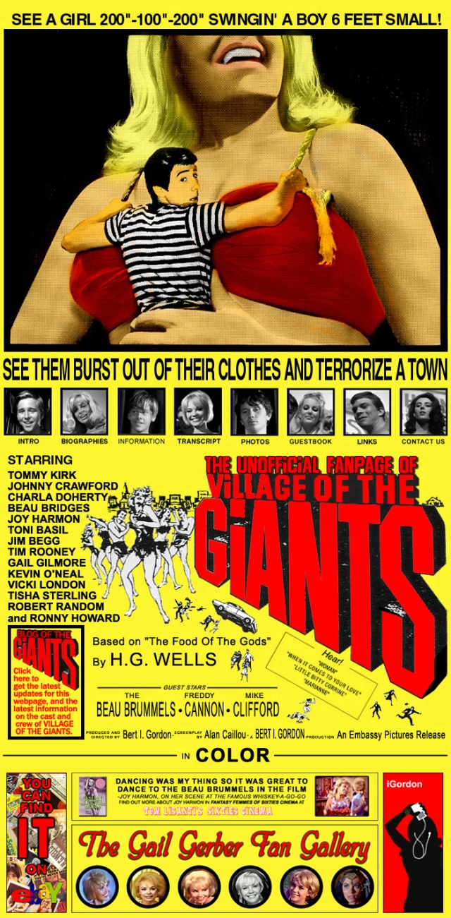 Village of the Giants- 1965- rebel rockabilly classic pop -Vintage Clothing Style Inspirations- The Eye of Faith- 8- poster