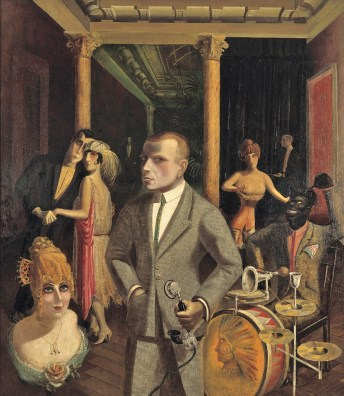Otto Dix (German Expressionist painter, 1891-1969) To Beauty 1922 (Okay, okay, I know there is no dog here, but it is one of my favorite Jazz Age paintings.
