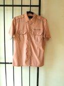 1960s Vintage Renee De Paris Pastel Pink Beach Shirt