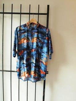 Bad Ass Bahama Breeze Ultra Vibrant Vintage Mens Tropical Print Graphic Shirt - The Eye of Faith