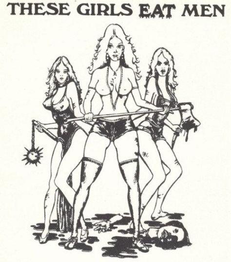 THESE GIRLS EAT MEN- THE EYE OF FAITH VINTAGE