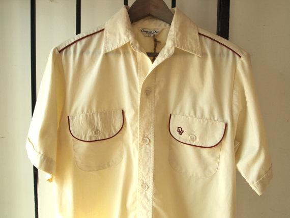 Vintage 1960s Christian Dior Monsieur Mens Summer Shirt- The Eye of Faith